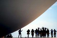 Índios ocupam cúpulas do Congresso Nacional
