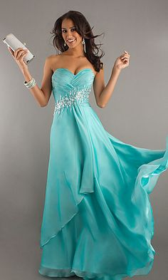 Prom Dresses 2014 Prom Gown Pleated Bodice A Line Sweep Brush Train Zipper Closure Back With Beading Sequince , You will find many long prom dresses and gowns from the top formal dress designers and all the dresses are custom made with high quality Prom Dresses 2015, Dressy Dresses, Cute Dresses, Bridal Dresses, Strapless Dress Formal, Beautiful Dresses, Bridesmaid Dresses, Party Dresses, Dress Prom