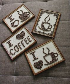 diy projekte 16 Stunning Coffee Bean Crafts For Co - Coffee Bean Decor, Coffee Bean Candle, Coffee Bean Art, Coffee Crafts, Coffee Beans, Diy And Crafts, Arts And Crafts, Coffee Shop, Coffee Lovers