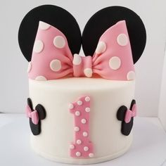 Edible Fondant Minnie Bow and Ears Cake Topper - Red