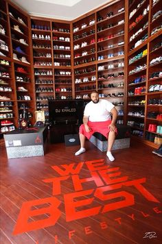 DJ Khaled Just Remodeled His Sneaker Room and It's Absolutely Insane storage sneakerhead room DJ Khaled Just Remodeled His Sneaker Room and It's Absolutely Insane Sneaker Storage, Shoe Storage, Storage Boxes, Shoe Room, Shoe Closet, Organizar Closet, Sneak Attack, Shoe Display, Shoe Organizer