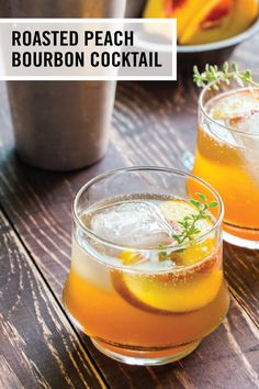 Sip on the charming flavors of the South with this recipe for Roasted Peach Bourbon Cocktail. This seasonal fruit pairs perfectly with bourbon, thyme, and honey to make a refreshing mixed drink recipe worthy of your Derby party.