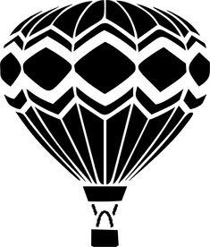 Eigenmarke Stencil Schablone  Heißluft Ballon