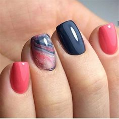 Nail art is a very popular trend these days and every woman you meet seems to have beautiful nails. It used to be that women would just go get a manicure or pedicure to get their nails trimmed and shaped with just a few coats of plain nail polish. White Nail Art, White Nails, Coral Toe Nails, Coral Acrylic Nails, Coral Nail Art, Pink Blue Nails, Dark Nail Art, Colorful Nail Art, Gold Nails