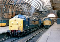 55013 The Black Watch and 46026 Leicestershire and Derbyshire Yeomanry at Kings Cross on Oct Electric Locomotive, Diesel Locomotive, Steam Locomotive, Train Pictures, World Pictures, Railroad Pictures, Railroad Photography, Railway Posters, British Rail