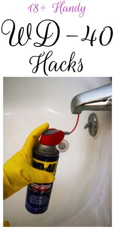 Tips, tricks, and hacks for using WD-40 around your home. #householdtips #householdhacks Diy Home Cleaning, Household Cleaning Tips, Homemade Cleaning Products, Cleaning Recipes, House Cleaning Tips, Cleaning Hacks, Household Cleaners, Cleaning Supplies, Homemade Tools