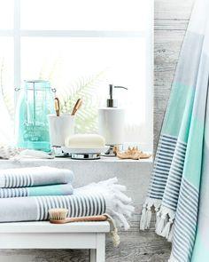 Beach house inspired…our perfect summer bathroom #bedbathntable
