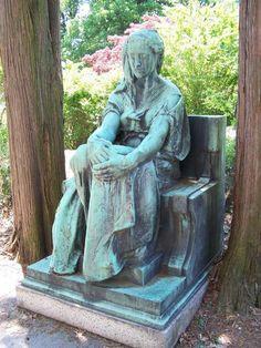 Images of Dark Cemetery Statues | Sleepy Hollow Cemetery & Old Dutch Burying Ground Images - Sleepy ...