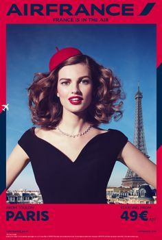 #FranceisintheaAir Air France's Stylish Campaign Features Destinations As Glamorous Fashion Ads