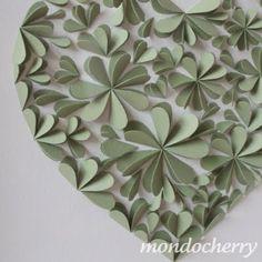3D blossom hearts