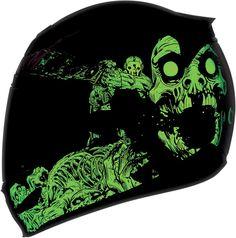 Icon Airmada Chainbrain Glow in the Dark Full Face Motorcycle Helmet