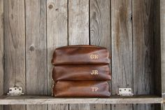 HANDMADE Mens RAZOR bag free Customization by LifetimeLeatherCo