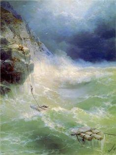 Ivan Aivazovsky (Russian-Armenian 1817-1900) | Surf