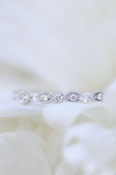 Charaties Marquise .40ctw Diamond Scalloped Eternity Band
