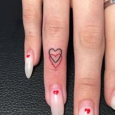 Tatoo Heart, Red Heart Tattoos, Red Ink Tattoos, Small Heart Tattoos, Dainty Tattoos, Heart Tattoo Designs, Small Tattoo Designs, Tattoos For Women Small, Mini Tattoos