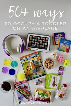 """Because let's face it, flying with a toddler is never that """"fun"""". // Plane Travel with Kids   Airplane Toys and Games   Toddler Busy Bag   Travel Snacks"""