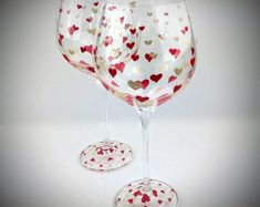 Hand Painted Wine & Martini Glasses and unique gifts by Jodistuff