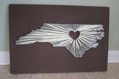 north carolina state string art - Google Search