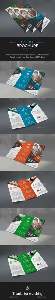 Trifold #Brochure - Brochures Print Templates Download here: https://graphicriver.net/item/trifold-brochure/19524342?ref=alena994