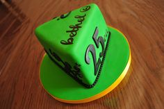 Wizard of Oz Cake #EmeraldGreenandBlack #FancyFonts