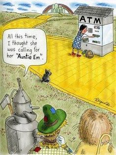 Wizard of Oz humor. laughed WAY harder than I should have Silly Jokes, Funny Jokes, Wizard Of Oz Quotes, Broadway, I Love To Laugh, Cartoon Pics, Cartoon Drawings, Over The Rainbow, The Wiz
