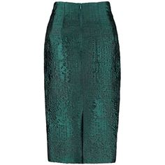By Sun - High Waist Peacock Green Pencil Skirt ($195) ❤ liked on Polyvore featuring skirts, spódnice, pencil skirt, peacock skirt, peacock feather skirt, knee length pencil skirt and high rise skirts