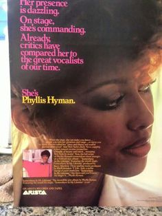 The statuesque, singer Phyllis Hyman Phyllis Hyman, Light Blue Aesthetic, Vintage Classics, I Miss Her, Smooth Jazz, Soul Music, Beautiful Black Women, Black People, Inspire Me