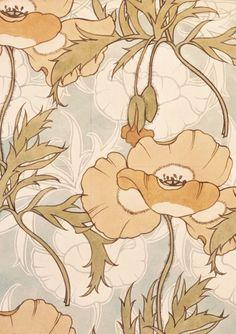 Design for a printed cretonne textile (Fabric design) Artist: Lindsay Phillip Butterfield, (1869 -1948). Great Britain, UK.