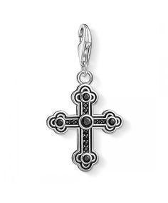 d273e45de50a Thomas Sabo Black Cross Pendant Charm Sale UK
