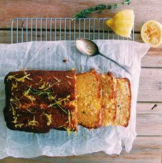 lemon & thyme drizzle cake -