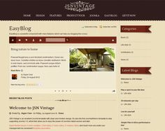 Vintage template with Easyblog component