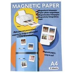 EUR 0,99 - magnetisch fotopapier A4 2vel glossy Make Your Own, How To Make, Action, A4, Internet, Shopping, Pictures, Group Action, Diy Crafts