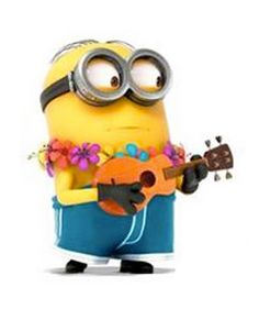 Despicable Me - Jerry is a very sensitive, easily got scared, loves to play his guitar, short and plump Minion with buzz-cut hair