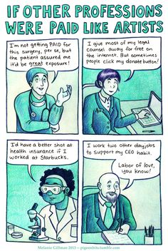 if other professions were paid like artists.