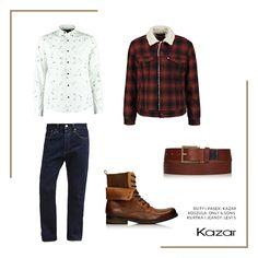 """Dziś mamy dla Was stylizację, która zainteresuje każdego wielkomiejskiego """"drwala"""" ;) Zainspiruj się stylem vintage i do brązowych skórzanych butów dobierz klasyczne jeansy, pasek i koszulę o jesiennym wzorze. Całość dopełnij modną kurtką w luźnym stylu. Broda nie jest wymagana ;) Brązowy pasek męski - http://bit.ly/2dijkYH Brązowe trzewiki męskie TIMOTEO - http://bit.ly/2eJsrlF"""
