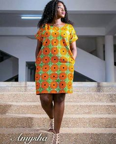 Beautiful African Ankara Styles For Curvy Ladies by laviye Short African Dresses, Latest African Fashion Dresses, African Print Dresses, African Print Fashion, Africa Fashion, African Traditional Dresses, African Attire, Kitenge, Ankara Gowns