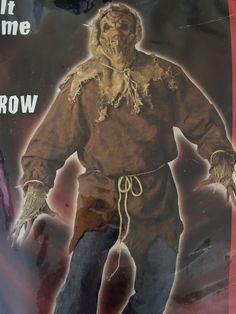 Evil Scary Adult Scarecrow Costume Halloween One Size Fits Most Complete Spirit…