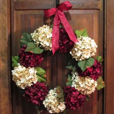 Wreath for Front Door  Valentine's Day by NewEnglandHomeAccent