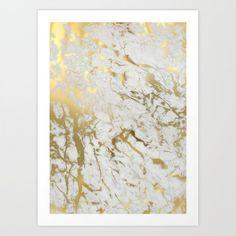 Gold Marble Art Print  #giftideas #giftunder100dollars #giftgiving #affordablegifts https://www.franceandson.com/