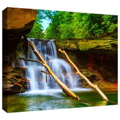 'Brecksville Falls' by Cody York Photographic Print on Wrapped Canvas