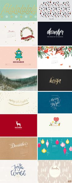 // December Wallpapers Round-up