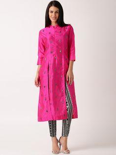 Buy IndusDiva By Neeta Lulla Pink Silk Churidar Kurta - - Apparel for Women from IndusDiva at Rs. 5999