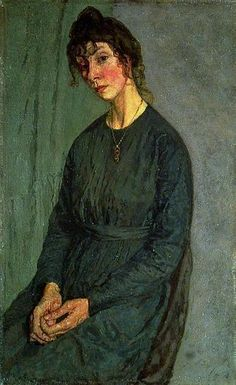 Gwen John - portrait of Chloe Boughton-Leigh Gwendalin Mary John was Welsh artis. Gwen John, Mary John, Caspar David Friedrich, Matisse, Figure Painting, Painting & Drawing, Leeds Art Gallery, Critique D'art, Portraits