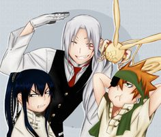 allen, timcanpy, kanda and lavi from d.gray-man #anime