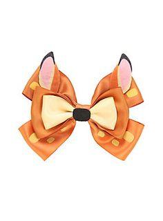 "<p>Adorable hair bow from Disney with a Bambi design.</p>  <ul> <li>4 1/2"" across</li> <li>Imported</li> </ul>"