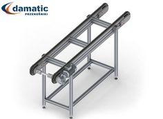 Przenośniki łańcuchowe idealnie się nadają do transportu ciężkich elementów lub o dużych gabarytach.