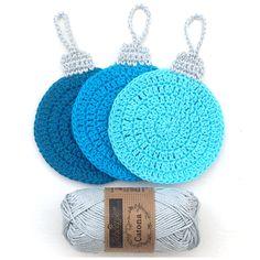 Crochet Christmas Coasters – Atty*s. Crochet Christmas Decorations, Crochet Christmas Ornaments, Christmas Crochet Patterns, Holiday Crochet, Crochet Gifts, Christmas Presents, Christmas Angels, Crochet Snowflakes, Christmas Ideas