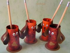Puppy Toilet Roll Pencil Holders