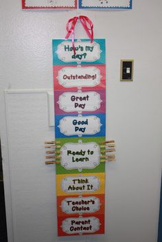 Behavior Chart Preschool on Pinterest