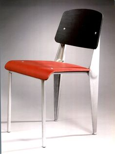Exceptional Prototype Chair Palette Dite Standard Demontable and sketches of original study, 1980. Jean Prouvé, Paris.